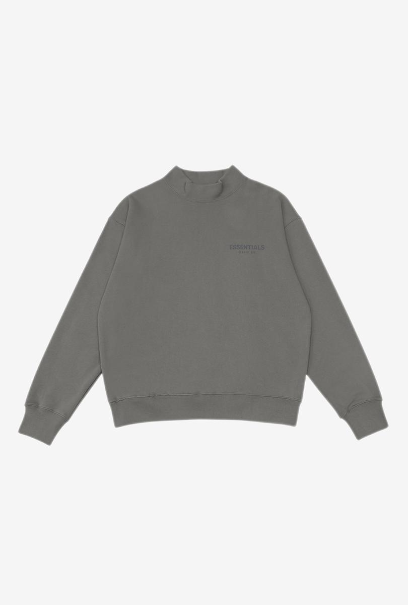 高领卫衣 炭灰色