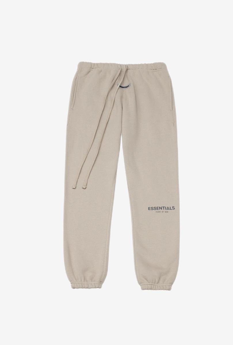 加厚加绒高街卫裤 棕褐色