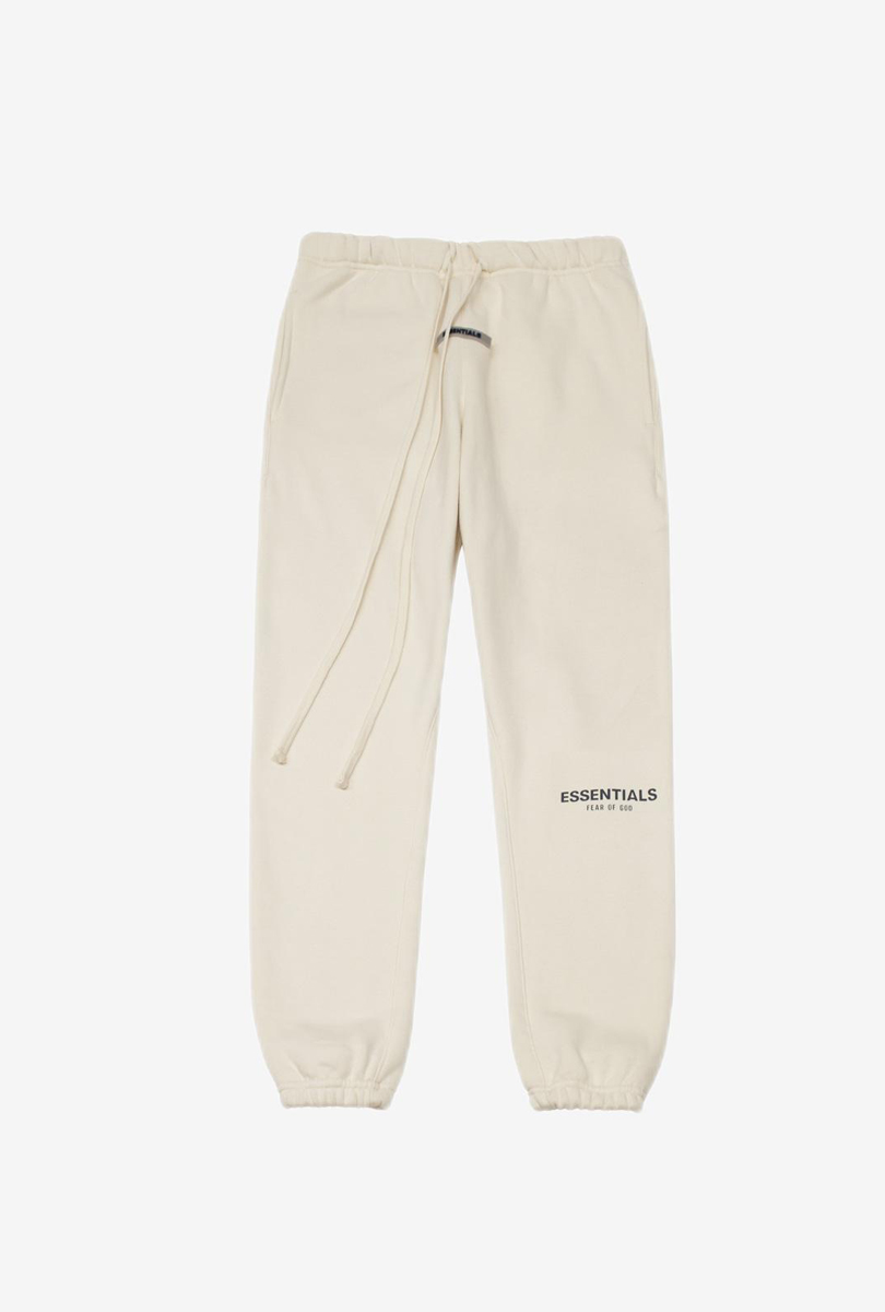 加厚加绒高街卫裤 米白色