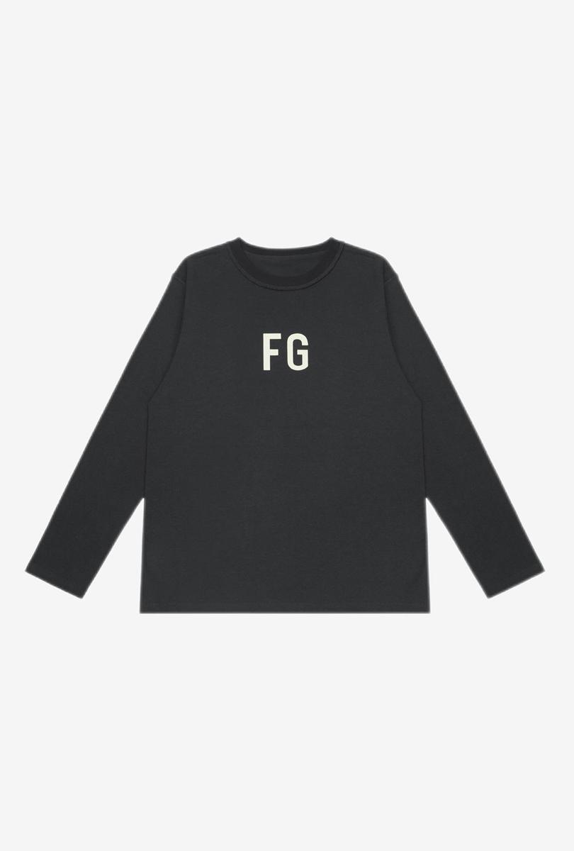 FG反穿设计长T恤 黑色